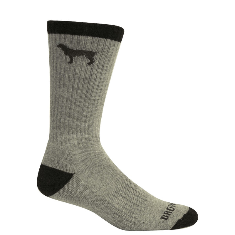 Brown Dog Beau Sport Lab Socks in Light Grey Heather Color
