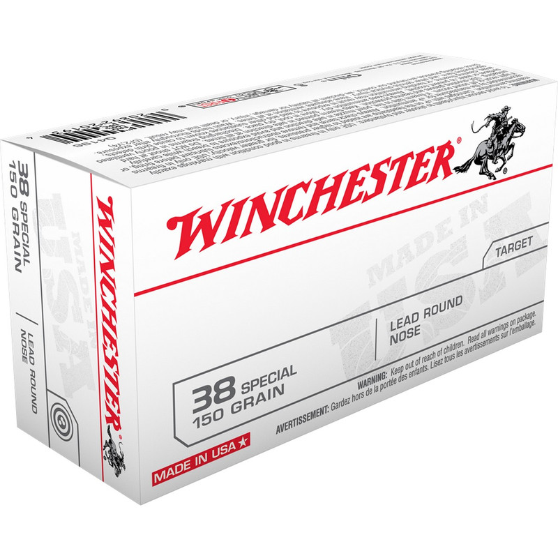 Winchester USA 38 Special 150 Grain Lead Round Nose 50 Rd