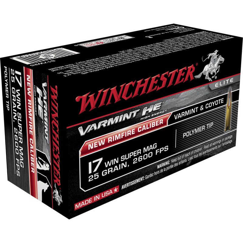 Winchester 17 Win Super Mag 25 Grain Polymer Tip 50 Rd