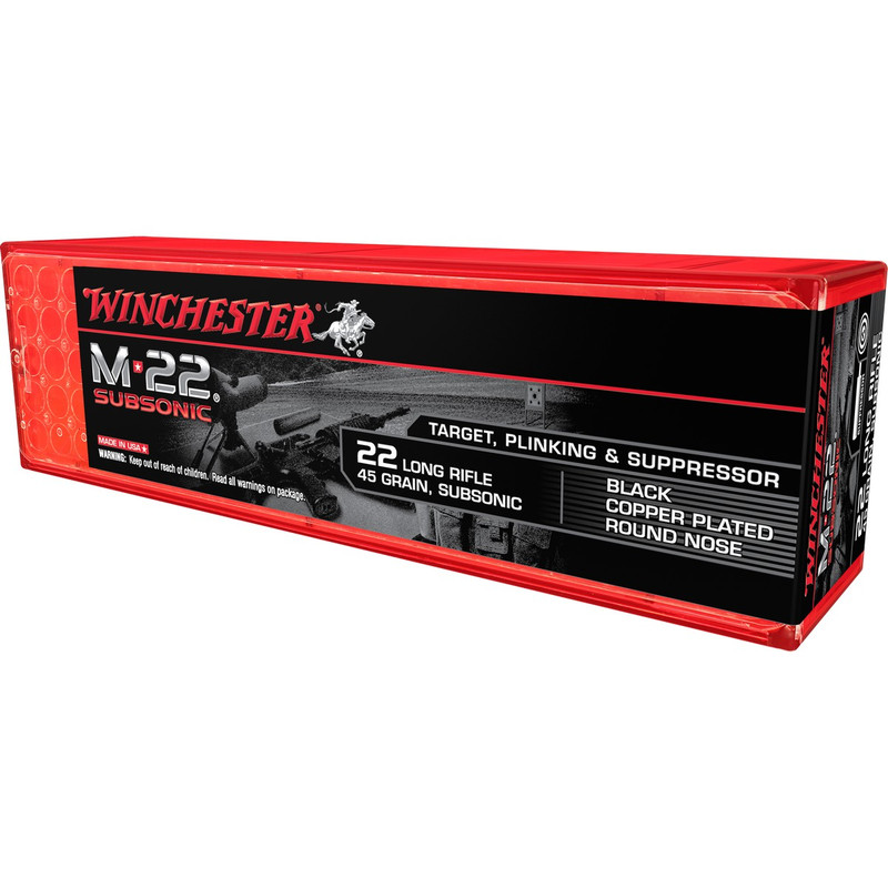 Winchester M-22 Subsonic 22 LR 45 Grain LRN 100 Rd