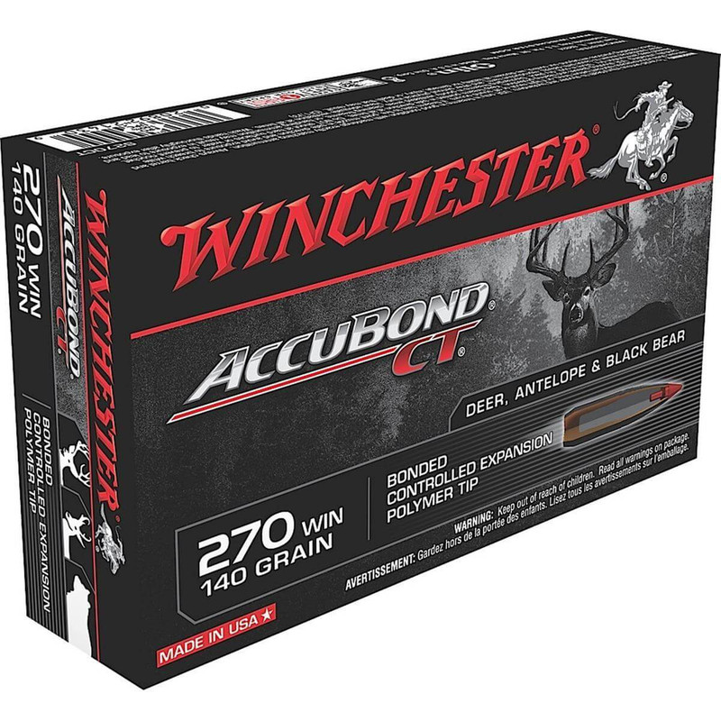 Winchester 270 Win 140 Grain Accubond CT 20 Rd