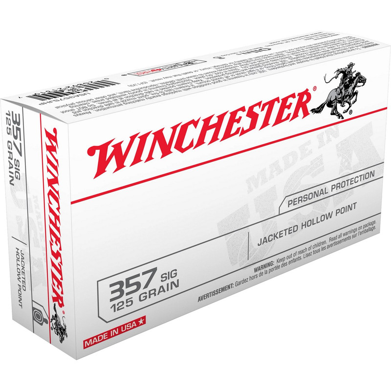Winchester 357 Sig 125 Grain JHP 50 Rd