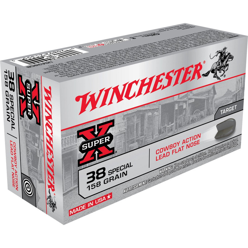 Winchester Cowboy Action 38 Special 158 Grain Lead 50 Rd