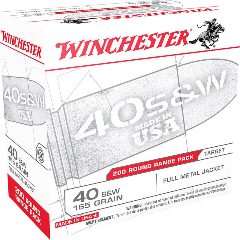 Winchester USA40W 40 S&W 165Gr FMJ - 200Rd