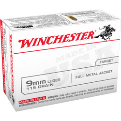 Winchester USA9MMVP 9mm 115 Grain FMJ - 100 Rounds