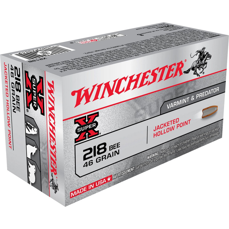 Winchester 218 Bee 46 Grain Hollow Point 50 Rd