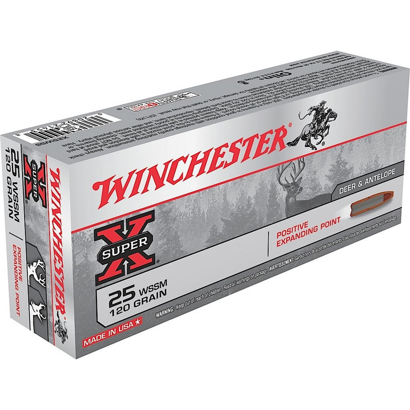 Winchester 25 WSSM 120 Grain Positive Expanding Point 20 Rd