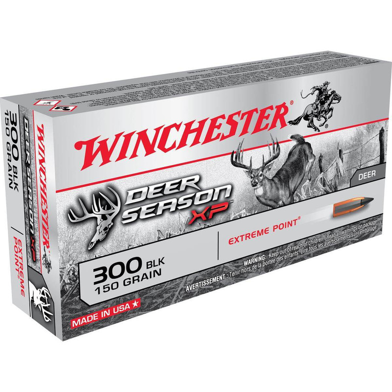 Winchester 300 AAC Blackout 150 Grain Deer Season XP 20 Rd