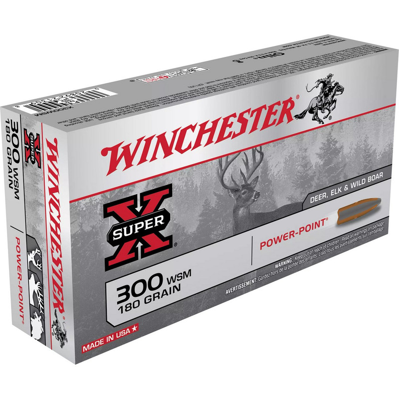 Winchester 300 WSM 180 Grain Power Point 20 Rd