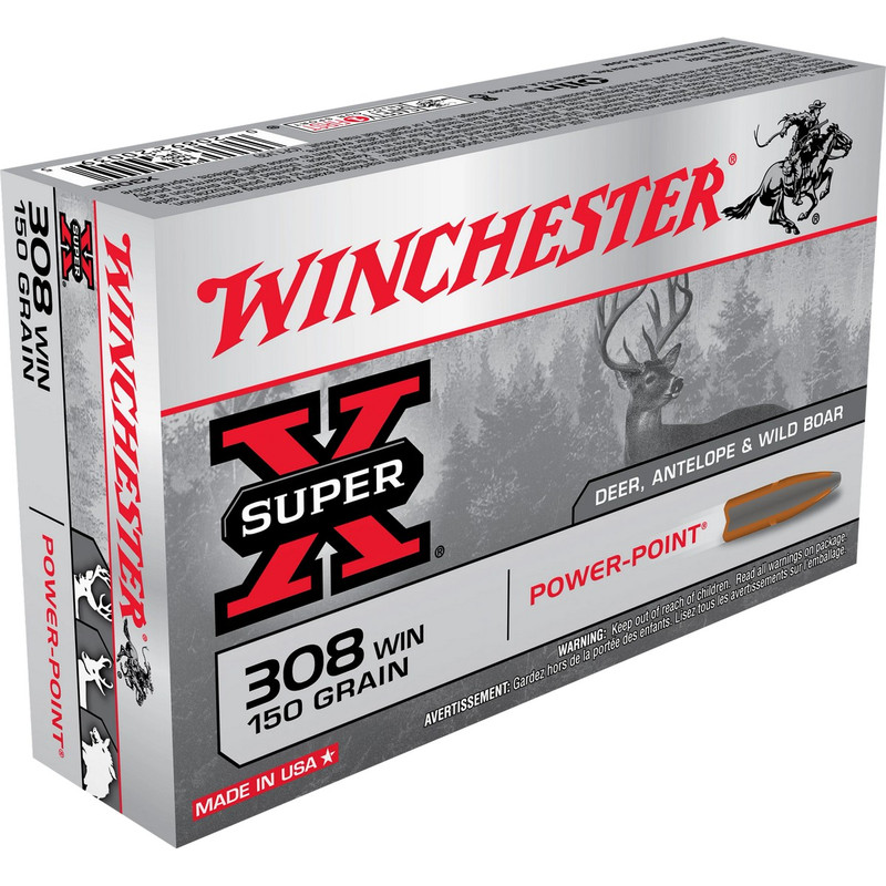 Winchester 308 Win 150 Grain Power Point 20 Rd