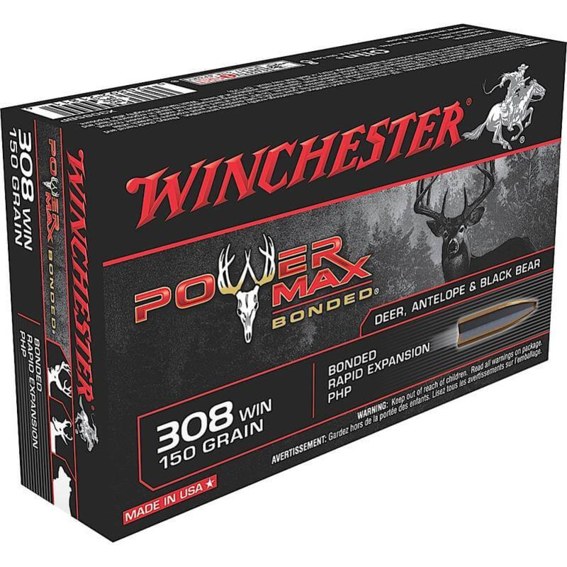 Winchester 308 150 Grain Power Max Bonded 20 Rd