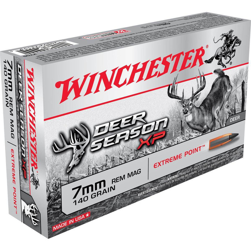 Winchester 7mm Rem Mag 140 Grain Deer Season XP 20 Rd