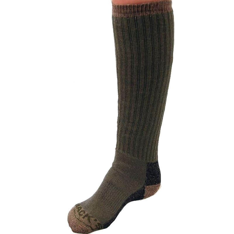 MPW Logo Merino Socks - Over the Calf in Green Color