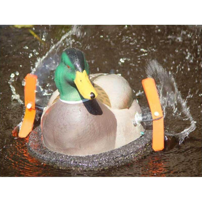 Wonderduck Deluxe Twister Duck Decoy With Timer in Drake Item Style
