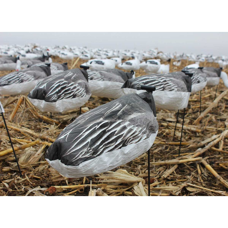 White Rock Headless Windsock Goose Decoys - 12 Pack in Blue Goose Item Style