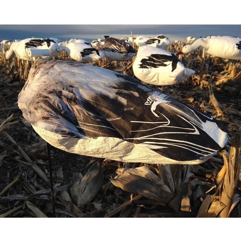 White Rock Headless Windsock Goose Decoys - 12 Pack in Juvie Snow Item Style