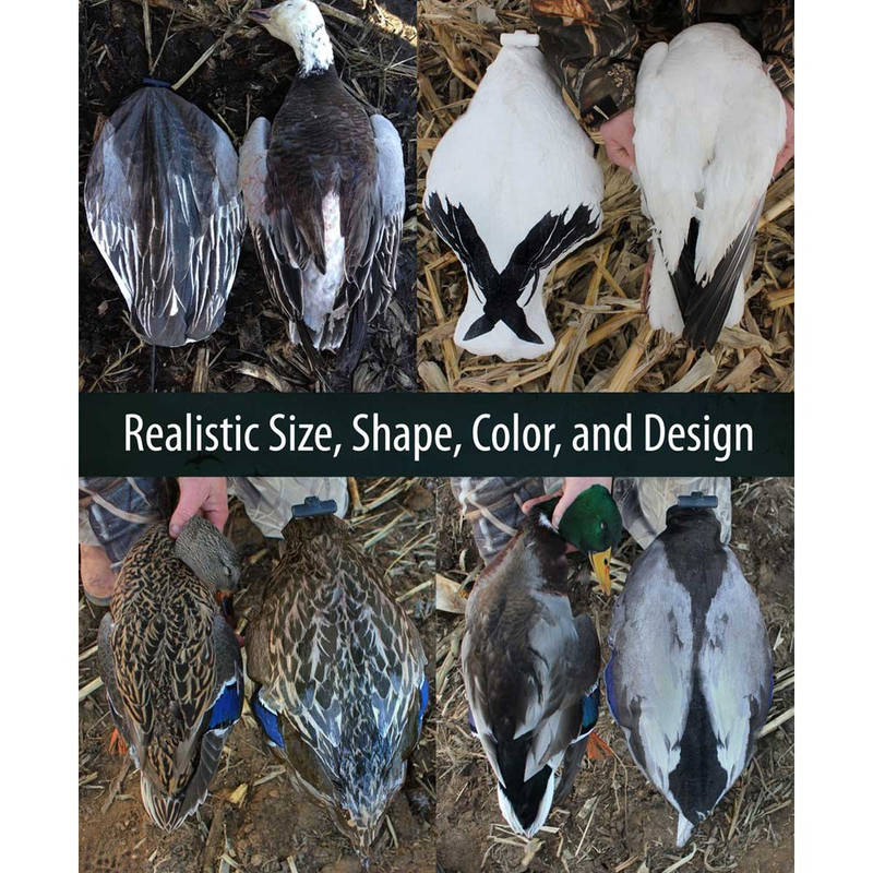 White Rock Headless Windsock Goose Decoys - 12 Pack in Snow Goose Item Style