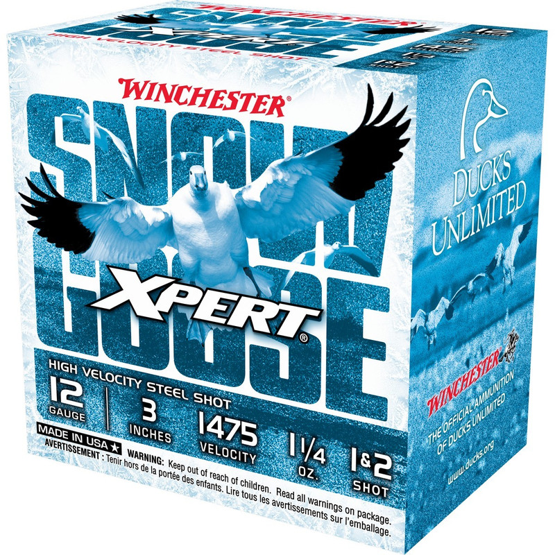 "Winchester Xpert Snow Goose 12 Ga 3"" 1-1/4 Oz - Case in Shot Size 1 & 2 Ammo Size"