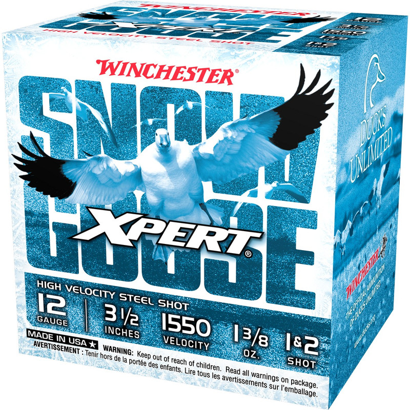"Winchester Xpert Snow Goose 12 Ga 3 1/2"" 1-3/8 Oz - Case in Shot Size 1 & 2 Ammo Size"