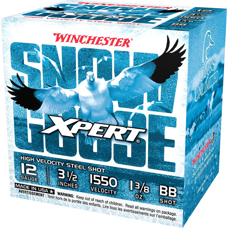 "Winchester Xpert Snow Goose 12 Ga 3 1/2"" 1-3/8 Oz - Case in Shot Size BB Ammo Size"