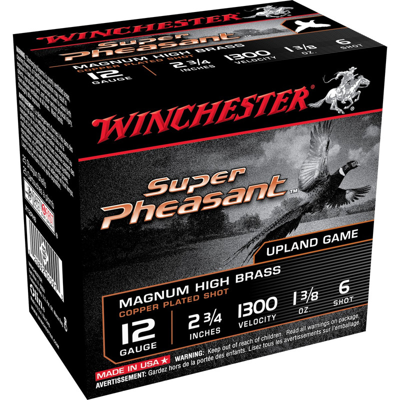 "Winchester X12PH Super Pheasant 12 Ga 2 3/4"" 1-3/8 Oz - Box in Shot Size 6 Ammo Size"