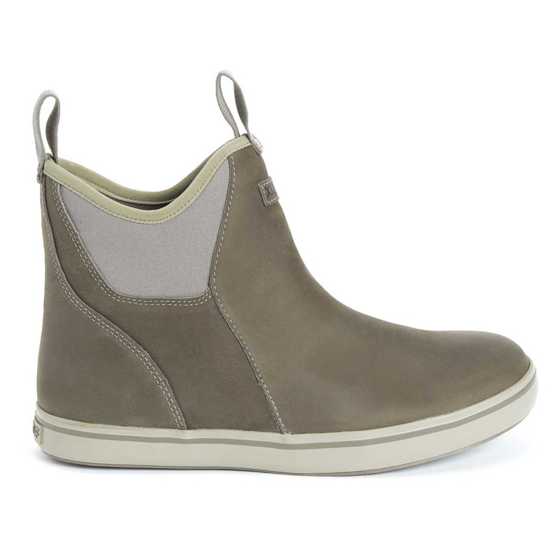 XTRATUF Men's 6 Inch Leather Ankle Deck Boots in Taupe Color