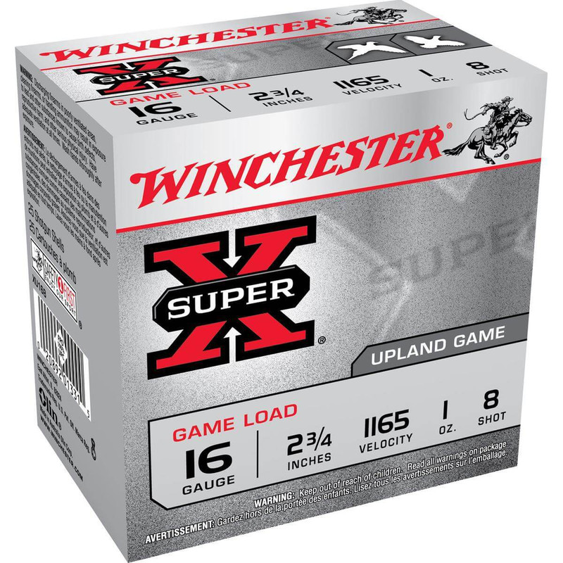 "Winchester XU16 Heavy Game 16 Ga 2 3/4"" 1 Oz - Case in Shot Size 8 Ammo Size"