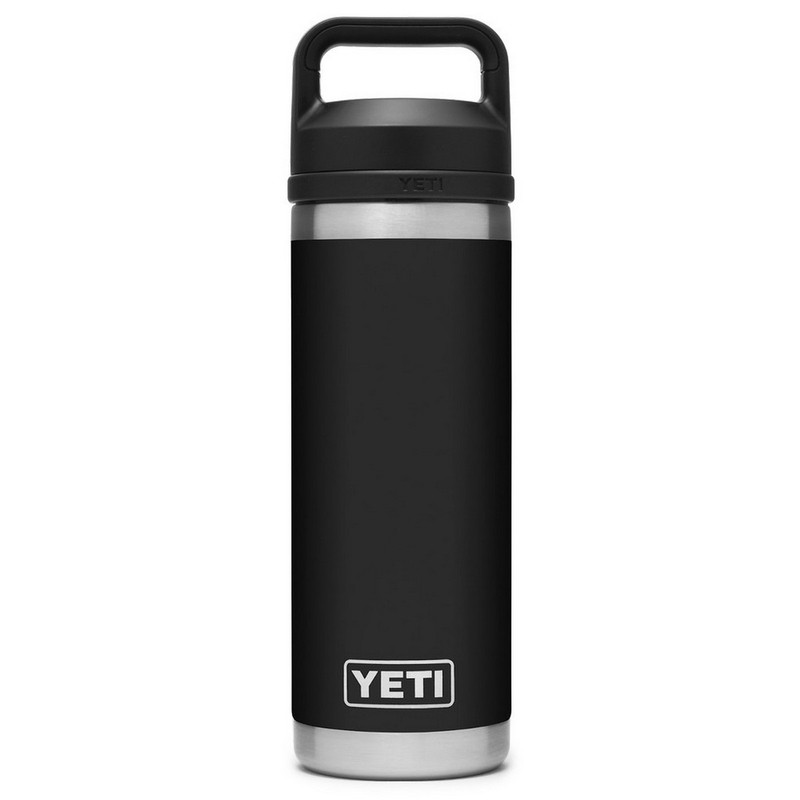 Yeti Rambler Bottle 18 Ounce With Chug Cap in Black Color