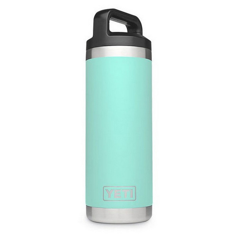 Yeti Rambler Bottle 18 Ounce With Chug Cap in Seafoam Color