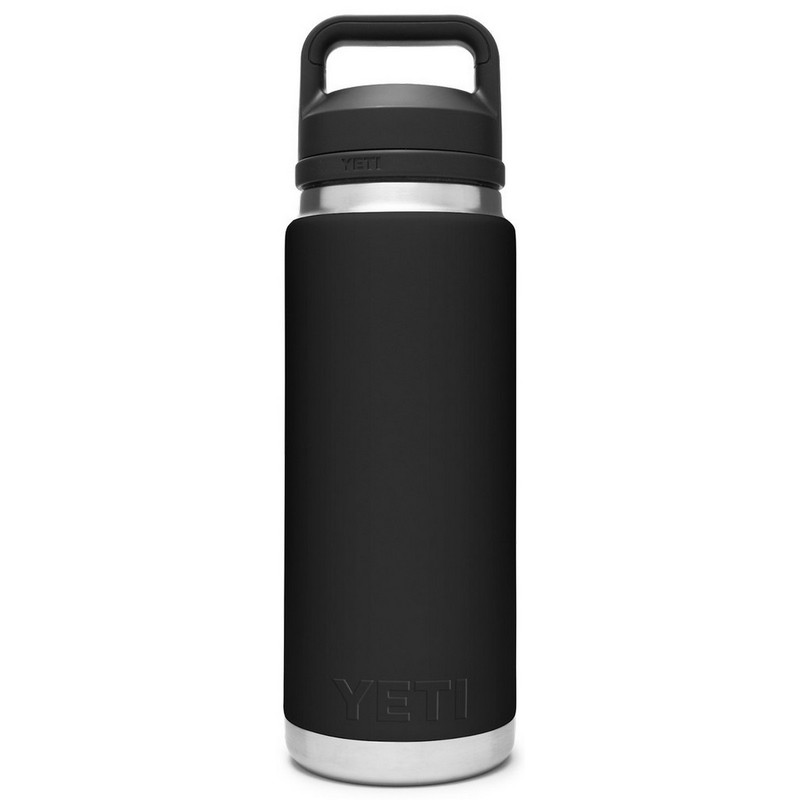 Yeti Rambler Bottle 26 Ounce With Chug Cap in Black Color
