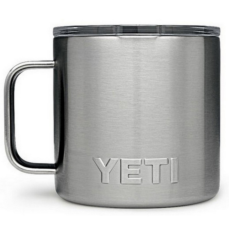 Yeti Rambler 14 Ounce Mug in Stainless Steel Color