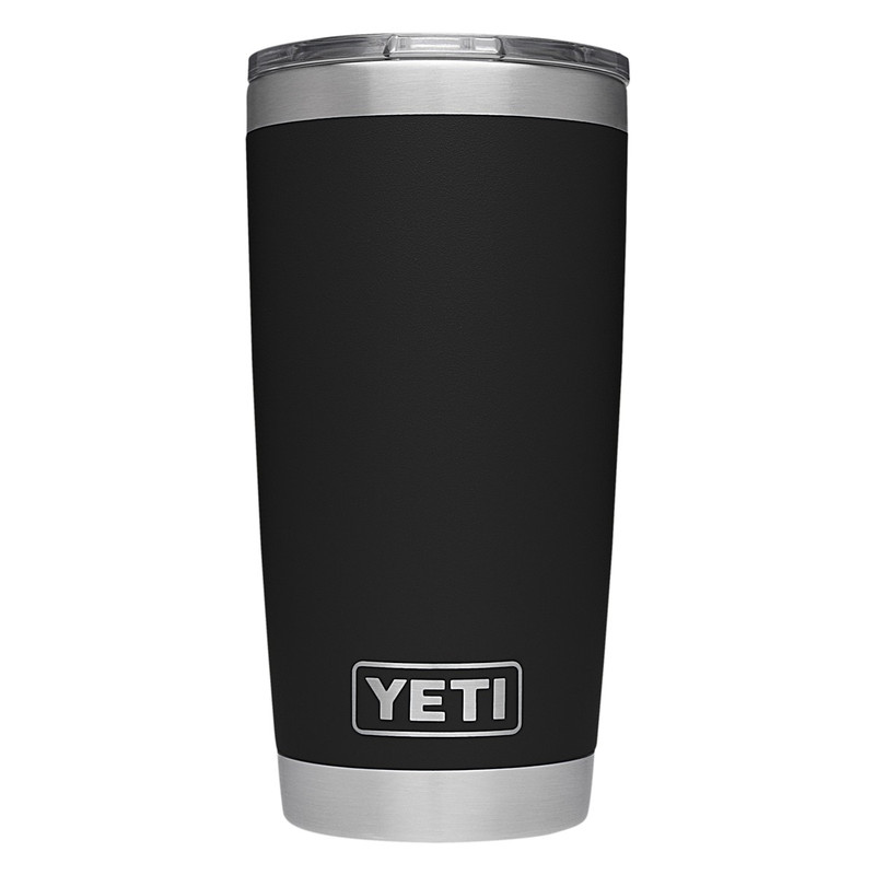 Yeti Rambler Tumbler 20 Ounce Mudslider Lid in Black Color