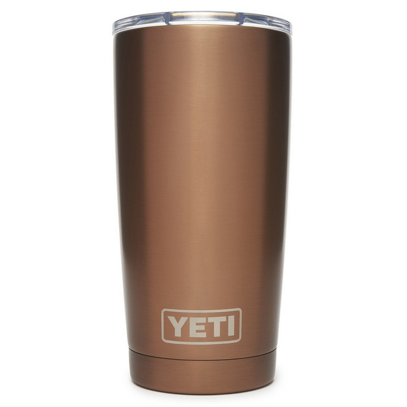 Yeti Rambler Tumbler 20 Ounce Mudslider Lid in Copper Color