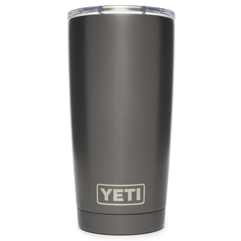 Yeti Rambler Tumbler 20 Ounce Mudslider Lid in Graphite Color