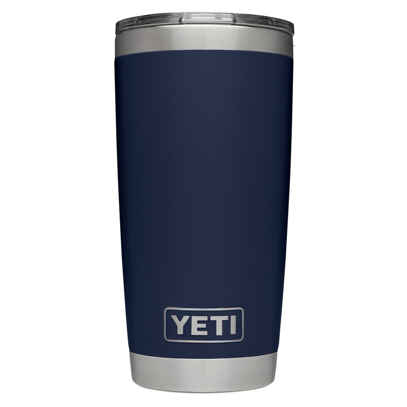 Yeti Rambler Tumbler 20 Ounce Mudslider Lid in Navy Color