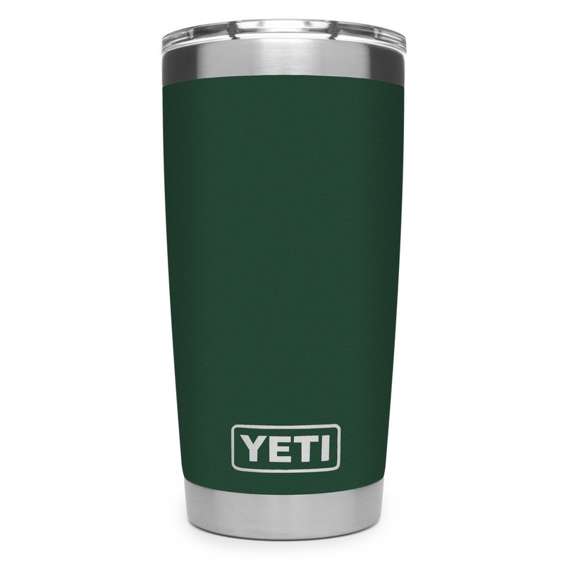 Yeti Rambler Tumbler 20 Ounce Mudslider Lid in Northwoods Green Color