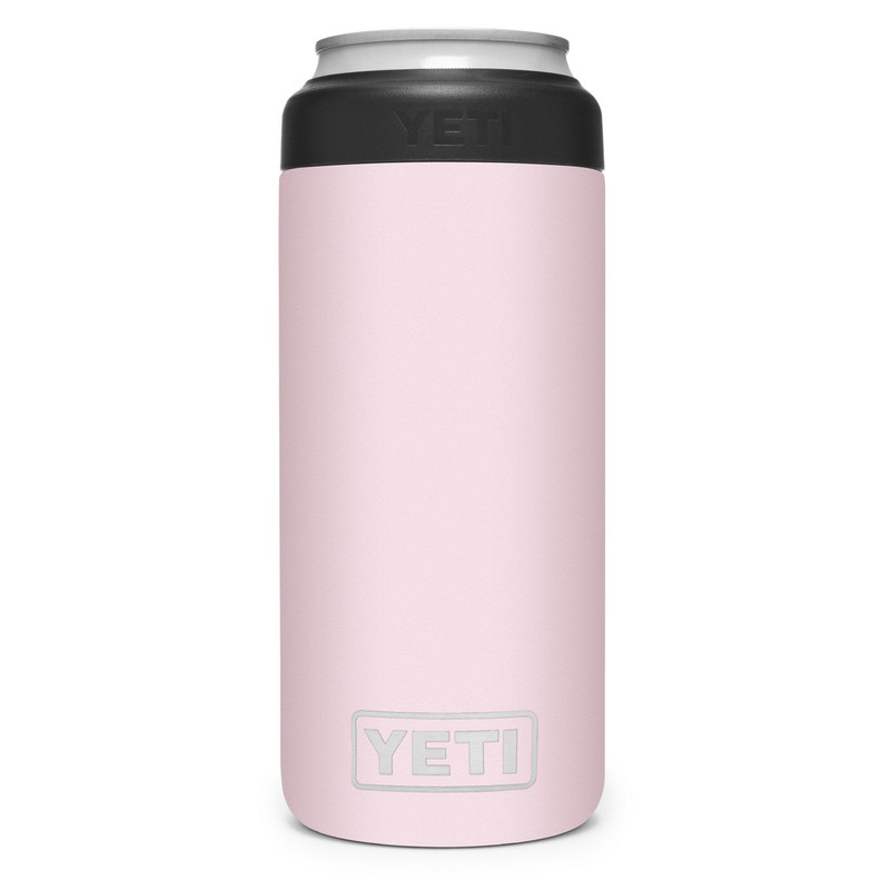 Yeti Rambler 12 OZ Colster Slim Can Insulator in Ice Pink Color
