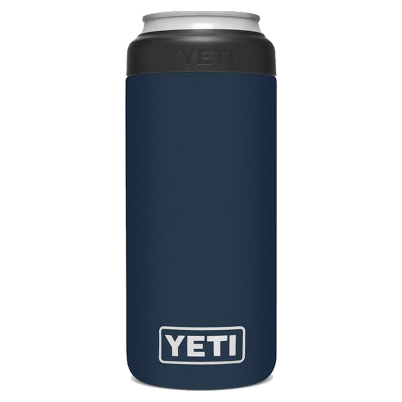 Yeti Rambler 12 OZ Colster Slim Can Insulator in Navy Color
