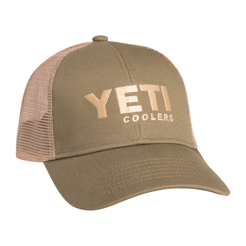Yeti Traditional Trucker Hat in Olive Tan Color