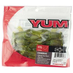 YUM Craw Bug Fishing Lure - 2.5 Inches 8 Count