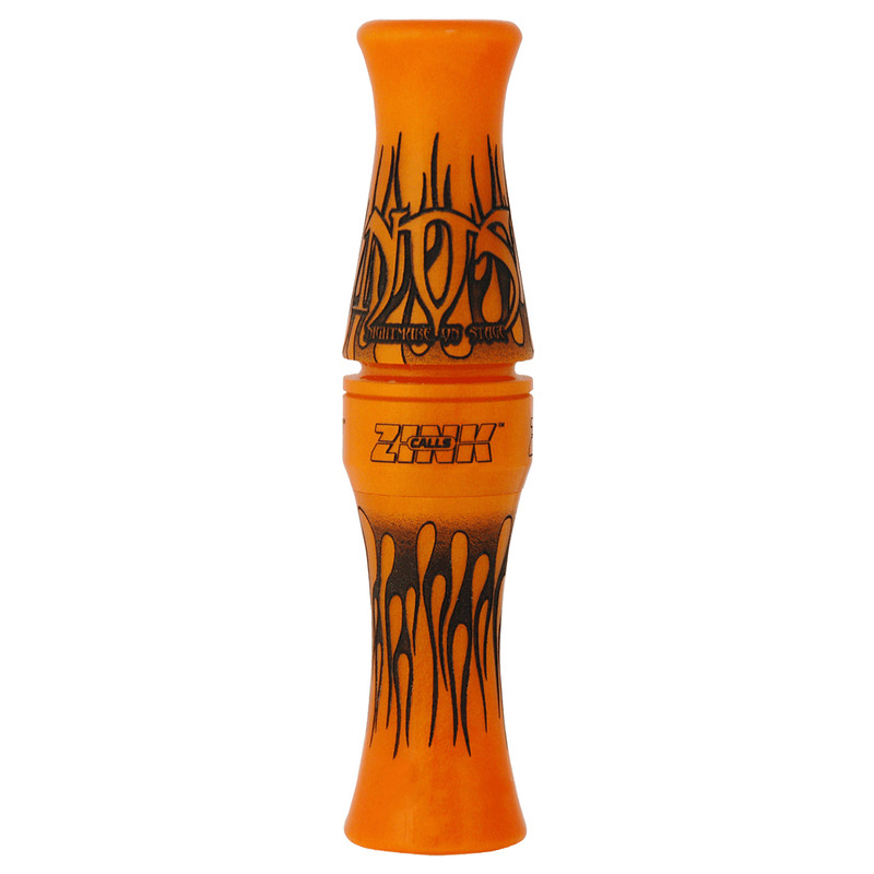 Zink Nightmare On Stage Acrylic Goose Call in Orange Marbleade Color