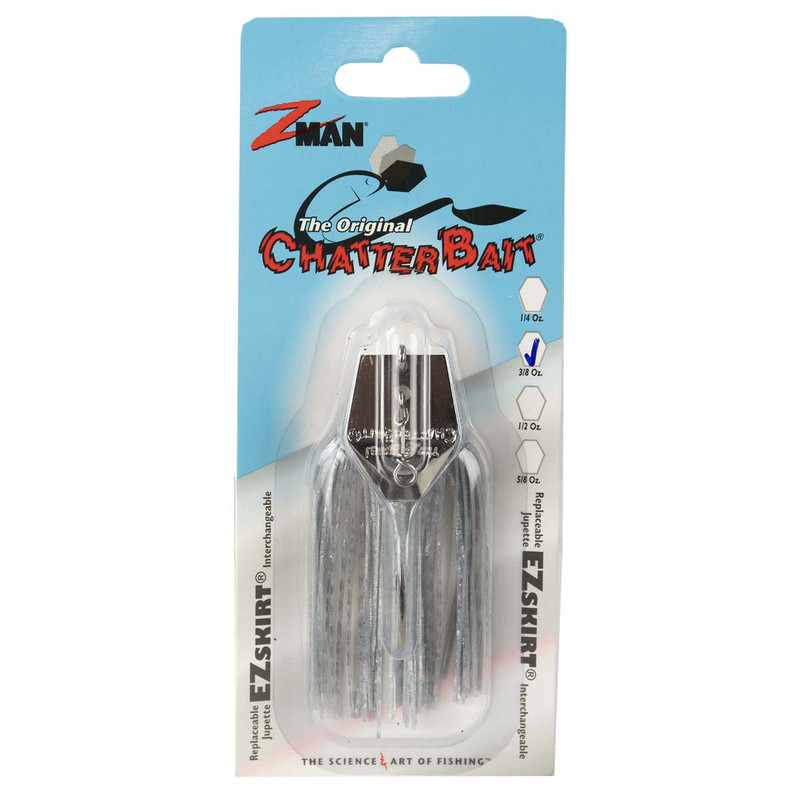 Z-Man The Original ChatterBait Fishing Lure - 3/8oz in Shad Blue Glimmer