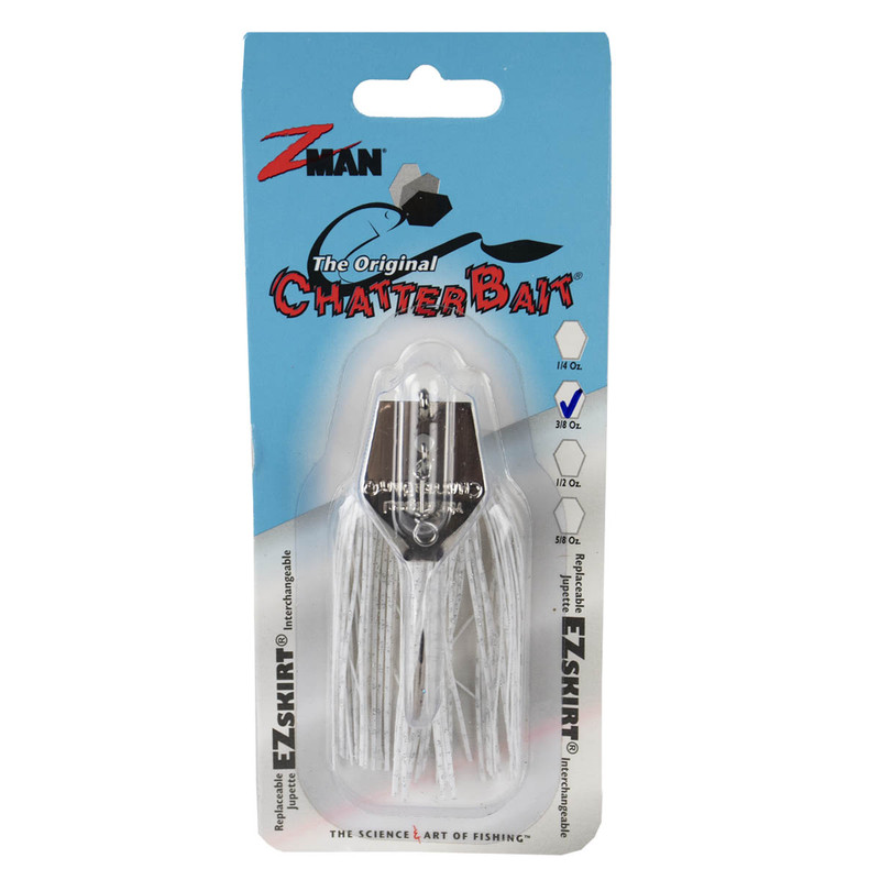 Z-Man The Original ChatterBait Fishing Lure - 3/8oz in White