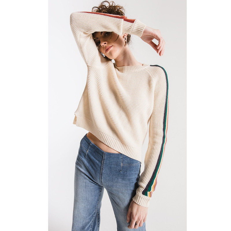 Others Follow Hawkin Sweater in Ivory Color