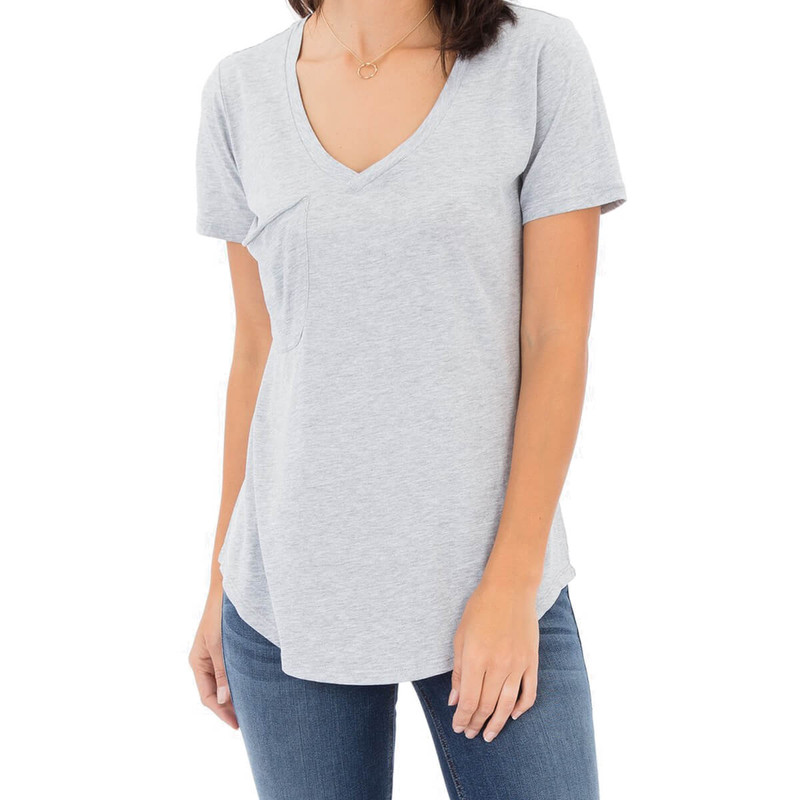 Z Supply The Pocket Tee in Heather Grey Burnout Color