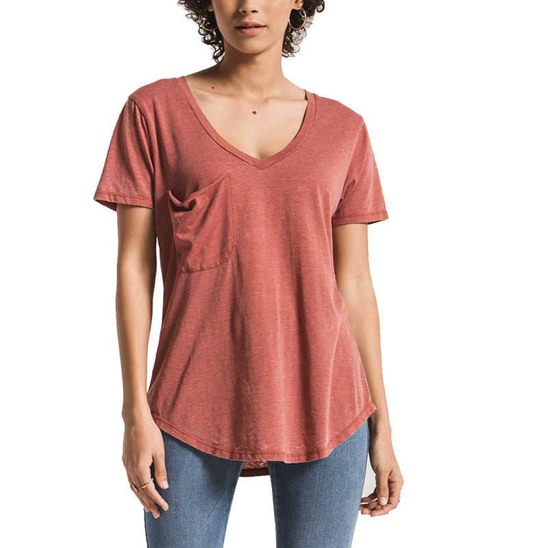 Z Supply The Pocket Tee in Mesa Red