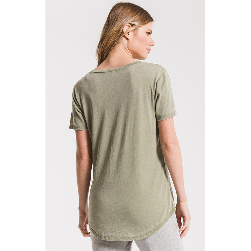 Z Supply The Pocket Tee in Oil Green