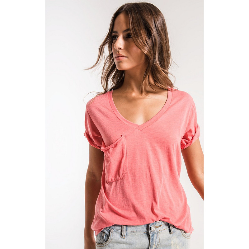 Z Supply The Pocket Tee in Sugar Coral