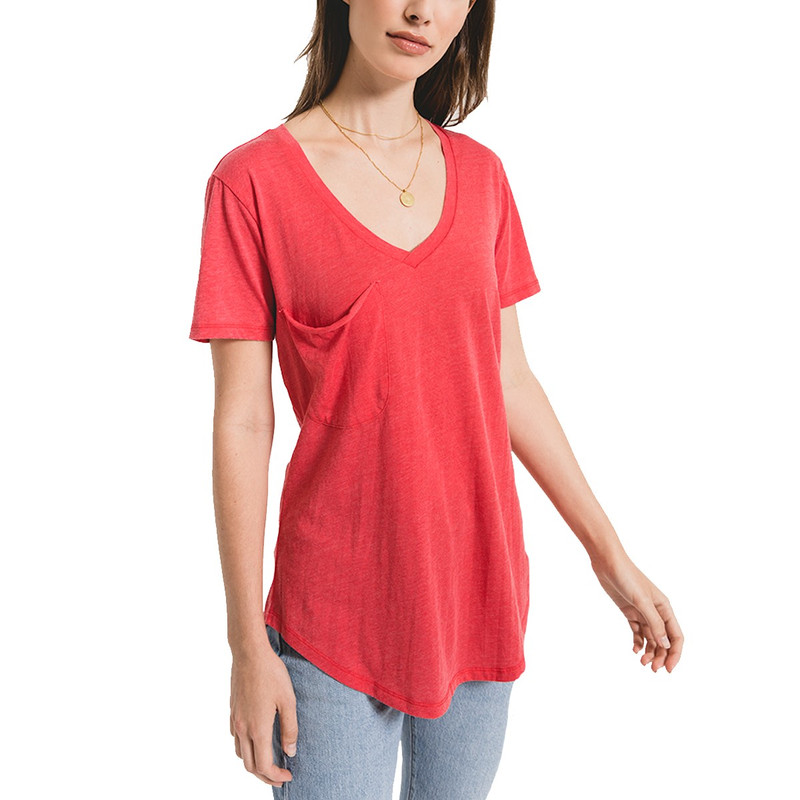 Z Supply The Pocket Tee in Tomato Color
