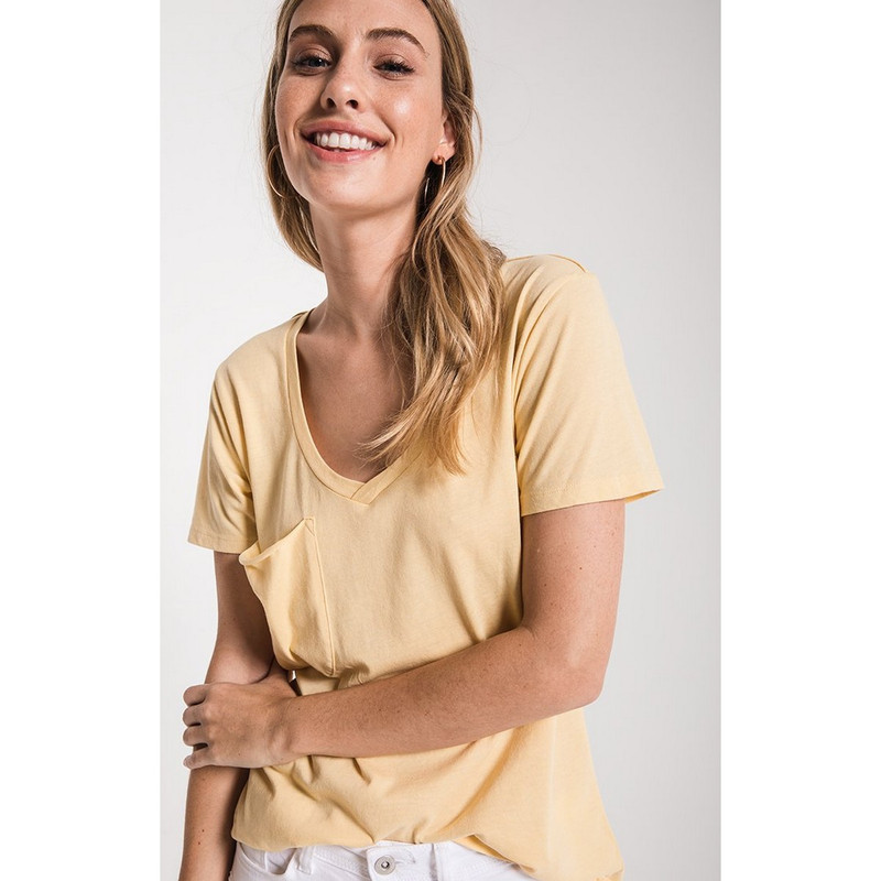 Z Supply The Pocket Tee in Yellow Cream